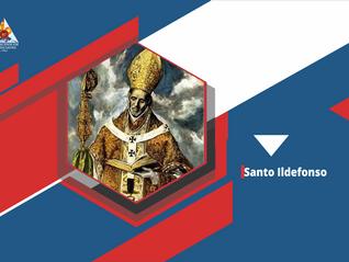 Santo Ildefonso deixou se transformar pelo poder do Espirito Santo