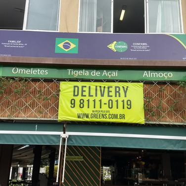 Placa fachada de loja. Gráfica em Taguatinga Brasília DF