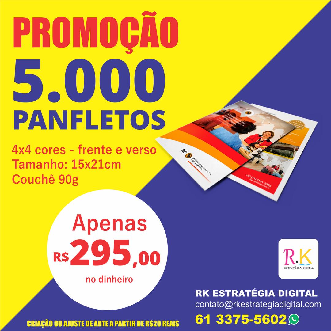 Impressão de Panfletos - Gráfica em Taguatinga