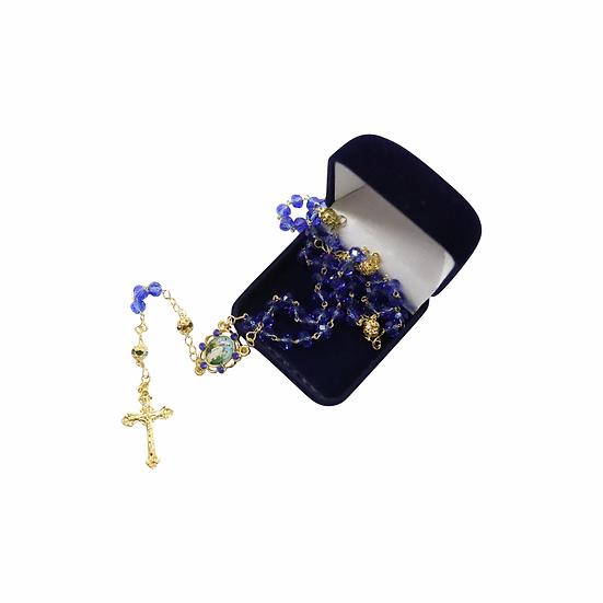 Terço N.S Primavera - azul