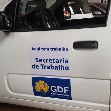 Adesivo personalizado para carro do GDF - projeto  Supera