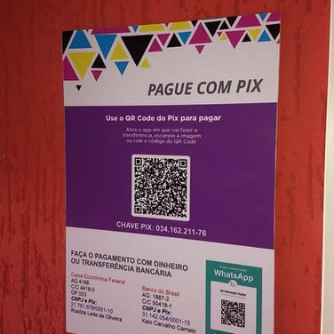 Placa personalizada pagamento coPlaca personalizada pagamento com PIX, gráfica em Taguatinga, Brasília DFm PIX, gráfica em Taguatinga, Brasília DF