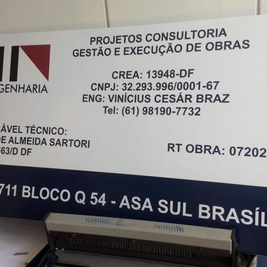 Placa de Obra - Gráfica em Brasília DF