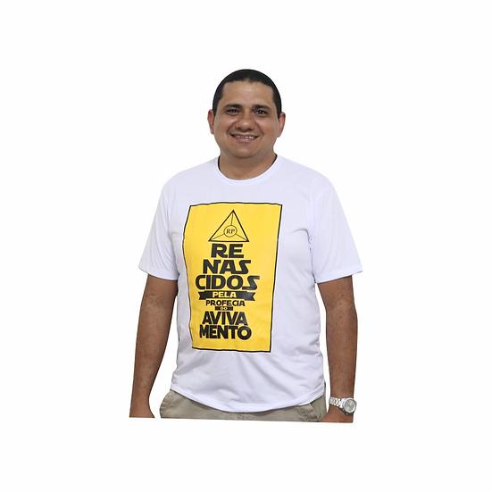 Camiseta Renascidos - Profecia do avivamento branca