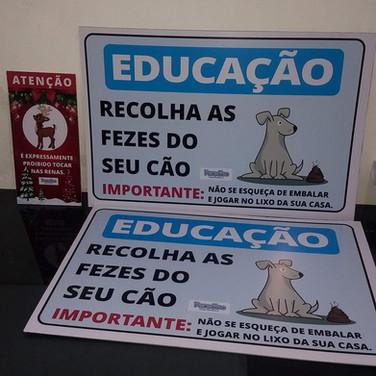 Placa de sinalização - Brasília DF