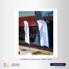 Wind Banner em Brasília - Kit Completo - Cliente: Clínica Central