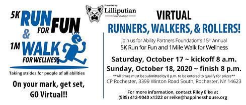 Run for Fun and Walk 2020 Masthead virtu