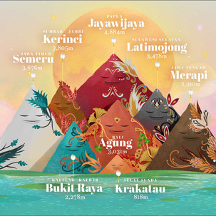 Mountains of Indonesia Infographic