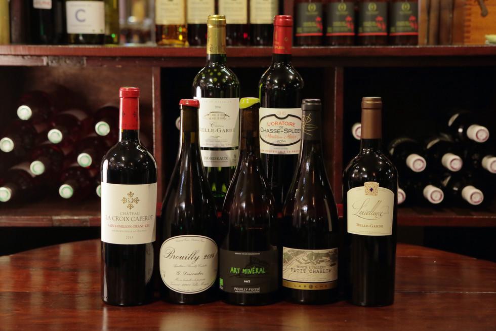 Exemple de vins disponibles à l'épicerie.