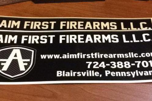 Aim First Firearms LLC Sticker