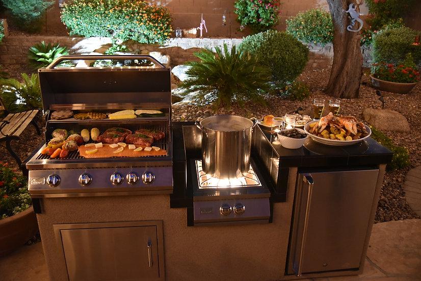 Power Burner 4 Burner 32 inch Built-In Barbeque Grill Island Kitchen Package