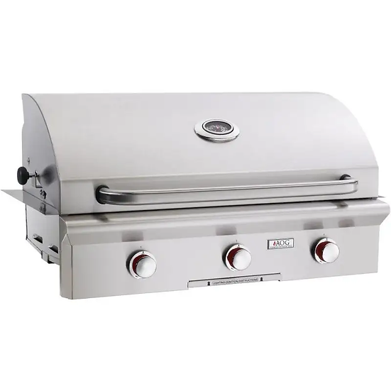 American Outdoor Grill T-Series 36 Inch 3 Burner Built in Grill No Back Burner