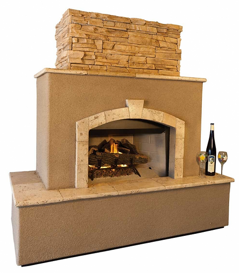 Tuscan 6' Outdoor Fireplace with Log Set for LP or NG access door for Tank