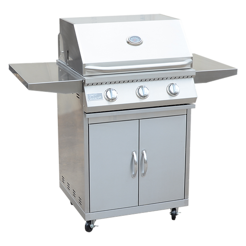 3 Burner 26 inch Cart Model BBQ Grill With Locking Casters