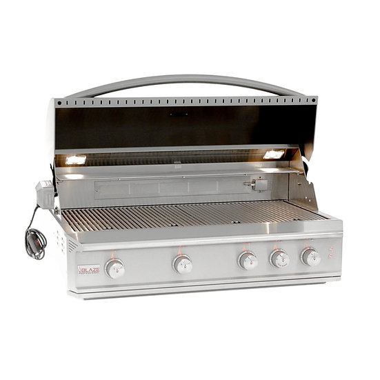 Blaze Professional 44-Inch 4-Burner Built-In Gas Grill With Infrared & Lights