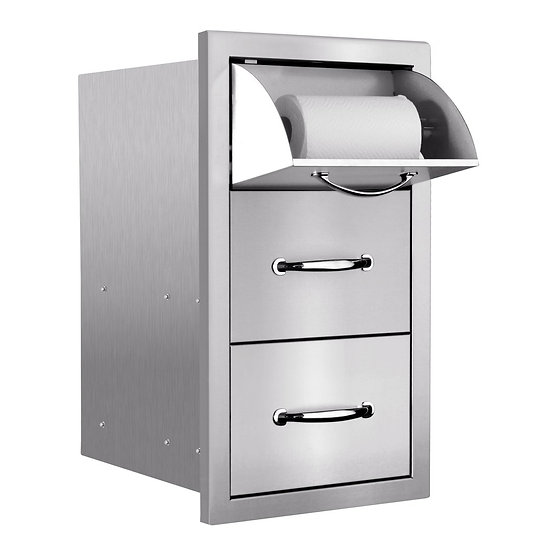 Summerset 2-Drawer & Paper Towel Holder Combo