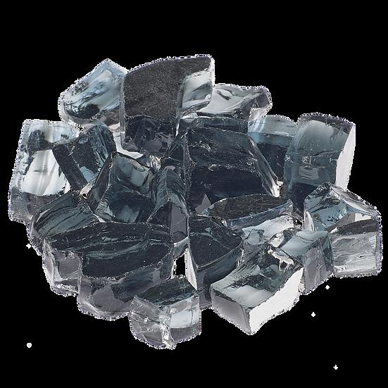 Vesper Black 1/2 Inch Reflective Fireglass