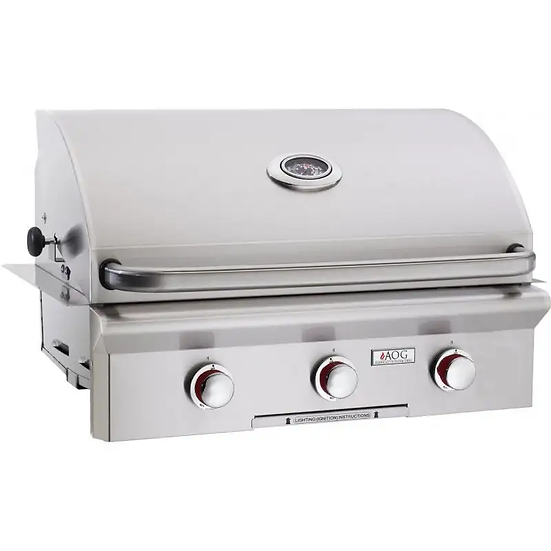American Outdoor Grill T-Series 30 Inch 3 Burner Built in Grill No Back Burner