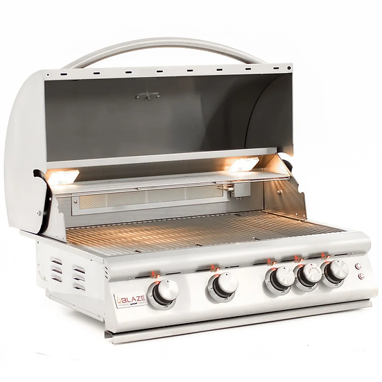 Blaze LTE Marine Grade 32-Inch 4-Burner Built-In Gas Grill With Rear Infrared