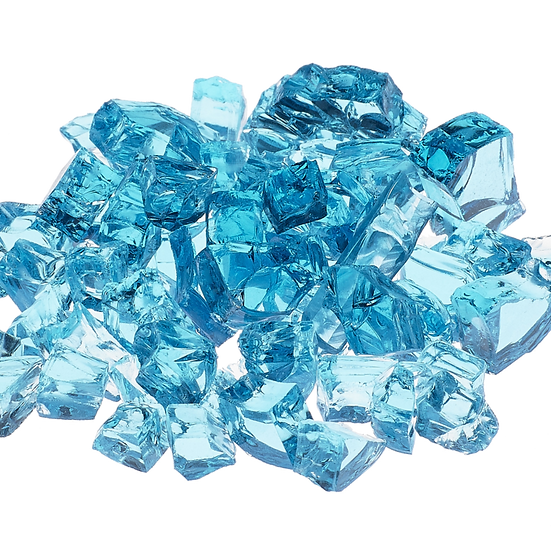 Calypso Light Blue 1/2 Inch Reflective Fireglass