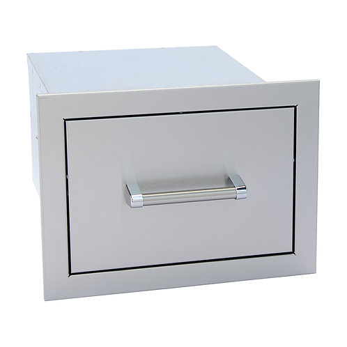 Stainless Steel Built-In Single Drawer with easy glides and bar handles