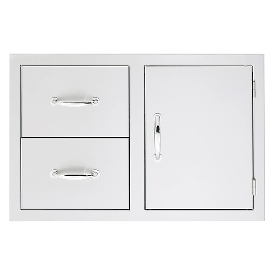 "Summerset 33"" 2-Drawer & Access Door Combo w/ Masonry Frame Return"