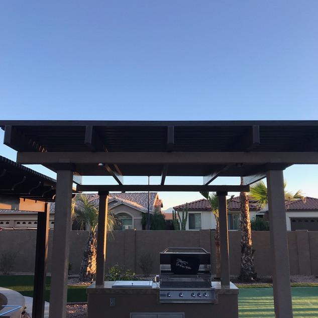 Outdoor Kitchen BBQ Island Area
