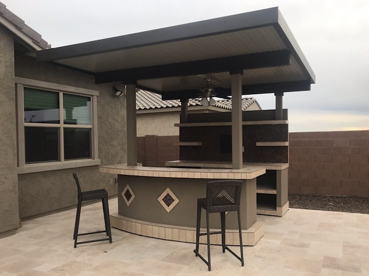 Key Largo Outdoor Kitchen With Built In BBQ Grill With 12 x 14 Patio Cover
