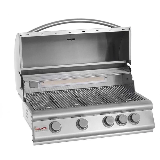 Blaze 32-Inch 4-Burner Built-In Gas Grill With Rear Infrared Burner