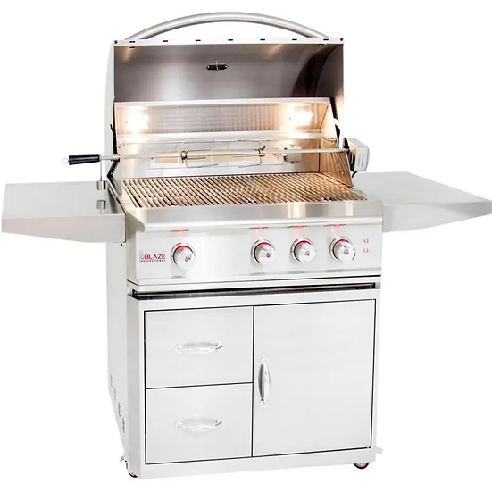 Blaze Professional 34-Inch 3-Burner Gas Grill With Rear Infrared Burner