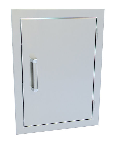 Stainless Steel Built-In Reversible Dual Wall  24x17 Inch BBQ Island Door
