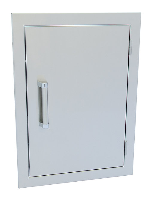 Stainless Steel Built-In Reversible Dual Wall  24x17 Inch BBQ Island Door