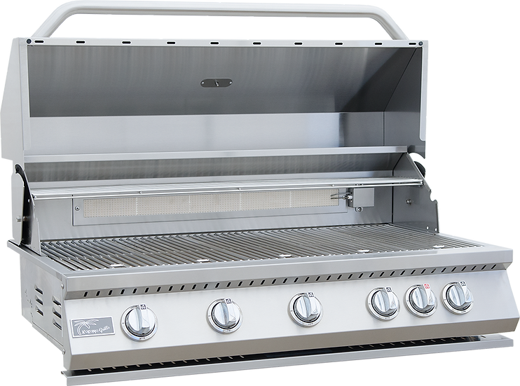 5 Burner 40 Inch Stainless Steel Built In BBQ Grill with Infrared Back Burner