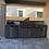 Thumbnail: BBQ Island With Built-In BBQ Grill Refrigerator, Drawers, & Double Side Burner