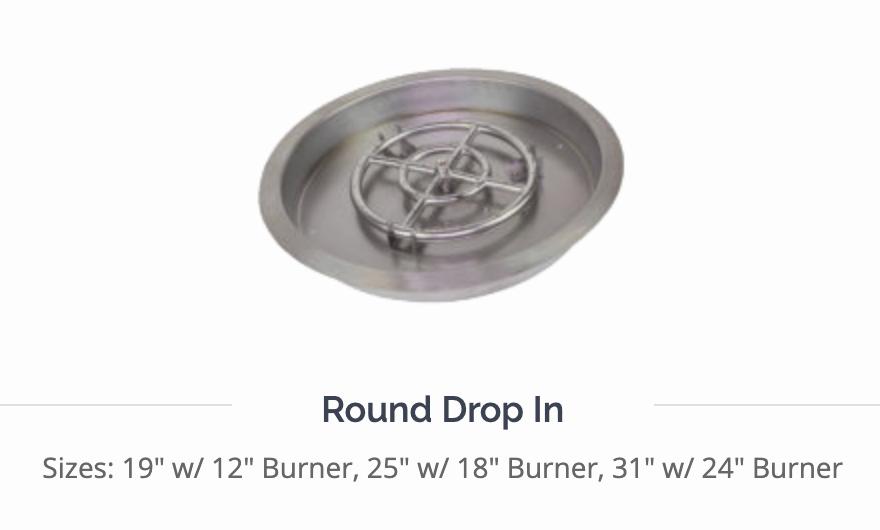 Athena Round Drop-In Pan Burner