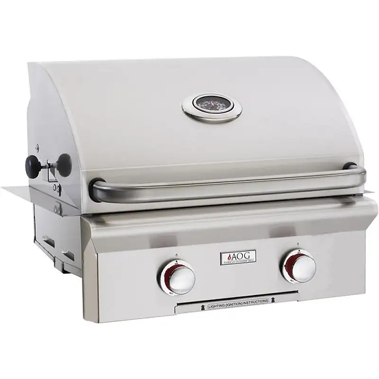 American Outdoor Grill L-Series 24 Inch 2 Burner Built in Grill No Back Burner