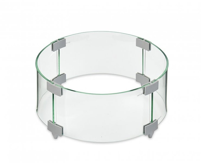 Outdoor Greatroom Round Tempered Glass Firepit Wind Guard