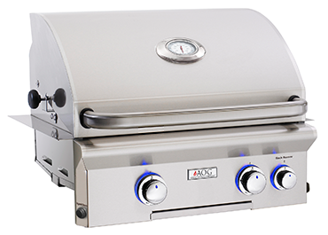 American Outdoor Grill L-Series 24 Inch 2 Burner Built in Grill