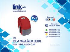 2295 - CASE PARA CÂMERA DIGITAL VERMELHO - CLONE - 35% OFF