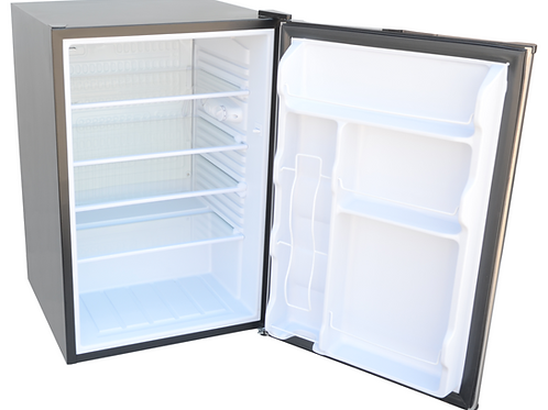 Built-In Outdoor Kitchen Refrigerator with Temp Control Soda Rack and Lights