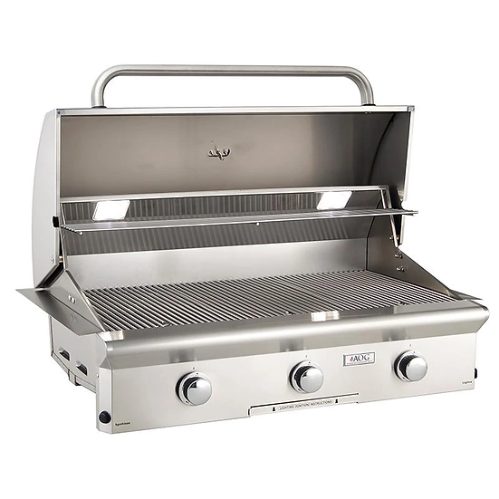 American Outdoor Grill L-Series 36 Inch 3 Burner Built in Grill No Back Burner