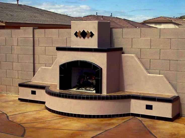 Santa Fe Fireplace-Straight