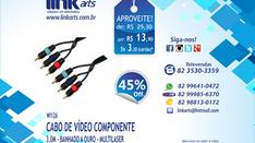 WI126 - CABO DE VÍDEO COMPONENTE - 3,0M - MULTILASER - 45%OFF