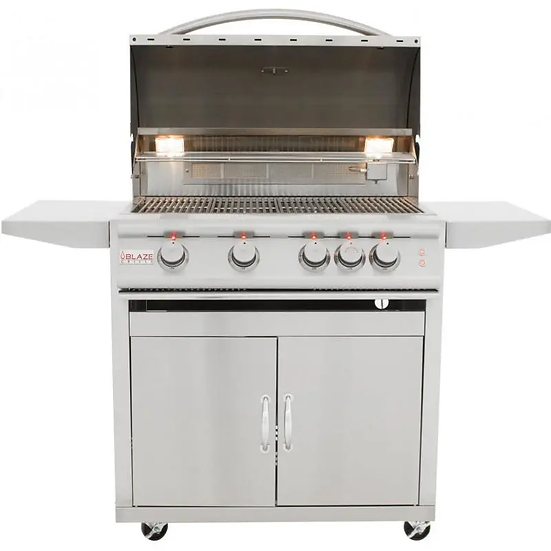 Blaze LTE 32-Inch 4-Burner Gas Grill With Rear Infrared Burner