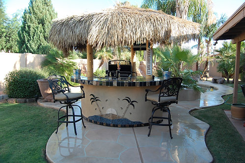 Tahiti Outdoor Kitchen with 10 foot Palapa and Built In BBQ Grill