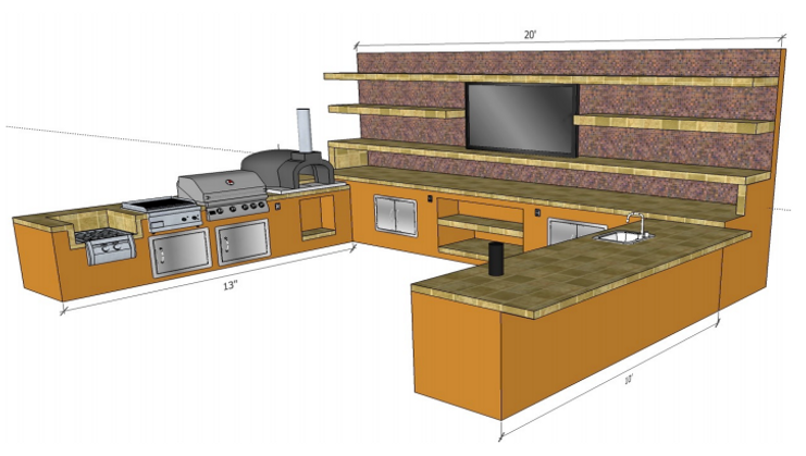 3D Cad Drawings Of BBQ Islands Free Designs.