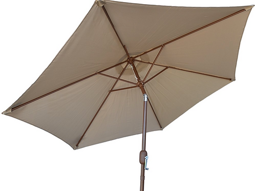 9' Outdoor Kitchen Umbrella Hand Crank and Tilt Beige Color