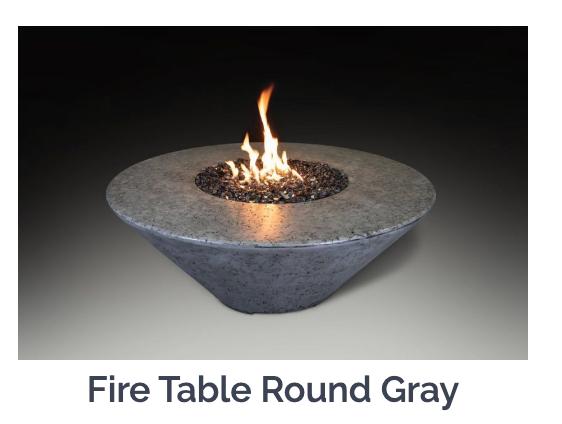 Athena Round Fire Table