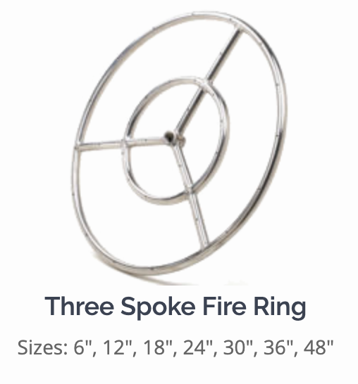 Athena Three Spoke Stainless Steel Fire Ring