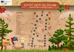 Lesopark Juré - mapka herných prvkov